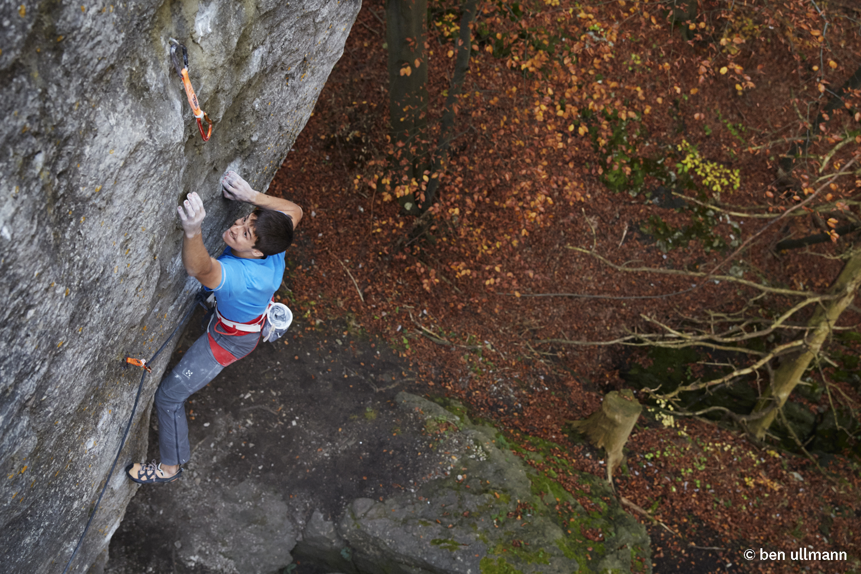 """The Elder Statesman"" (9a) in Frankenjura, Germany (c) Ben Ullmann"