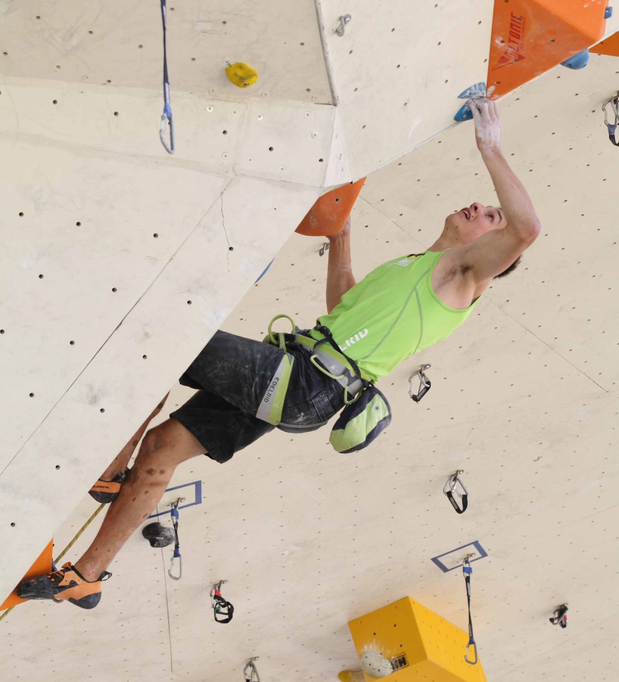 David is fighting in the final route - Pic by Heiner Schmiedl