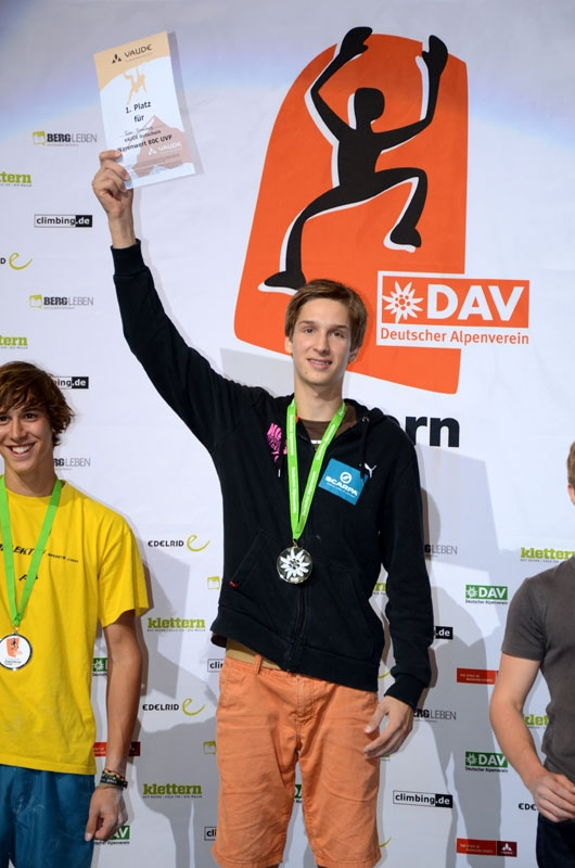 Ruben won at the Youth lead event - Pic by www.bergleben.de