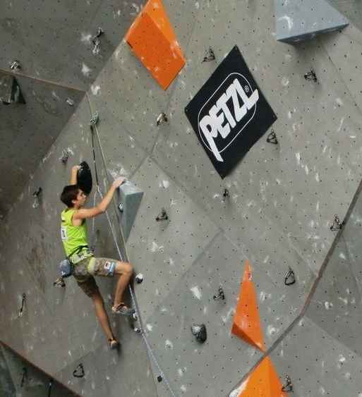 Ruben in his first qualification route