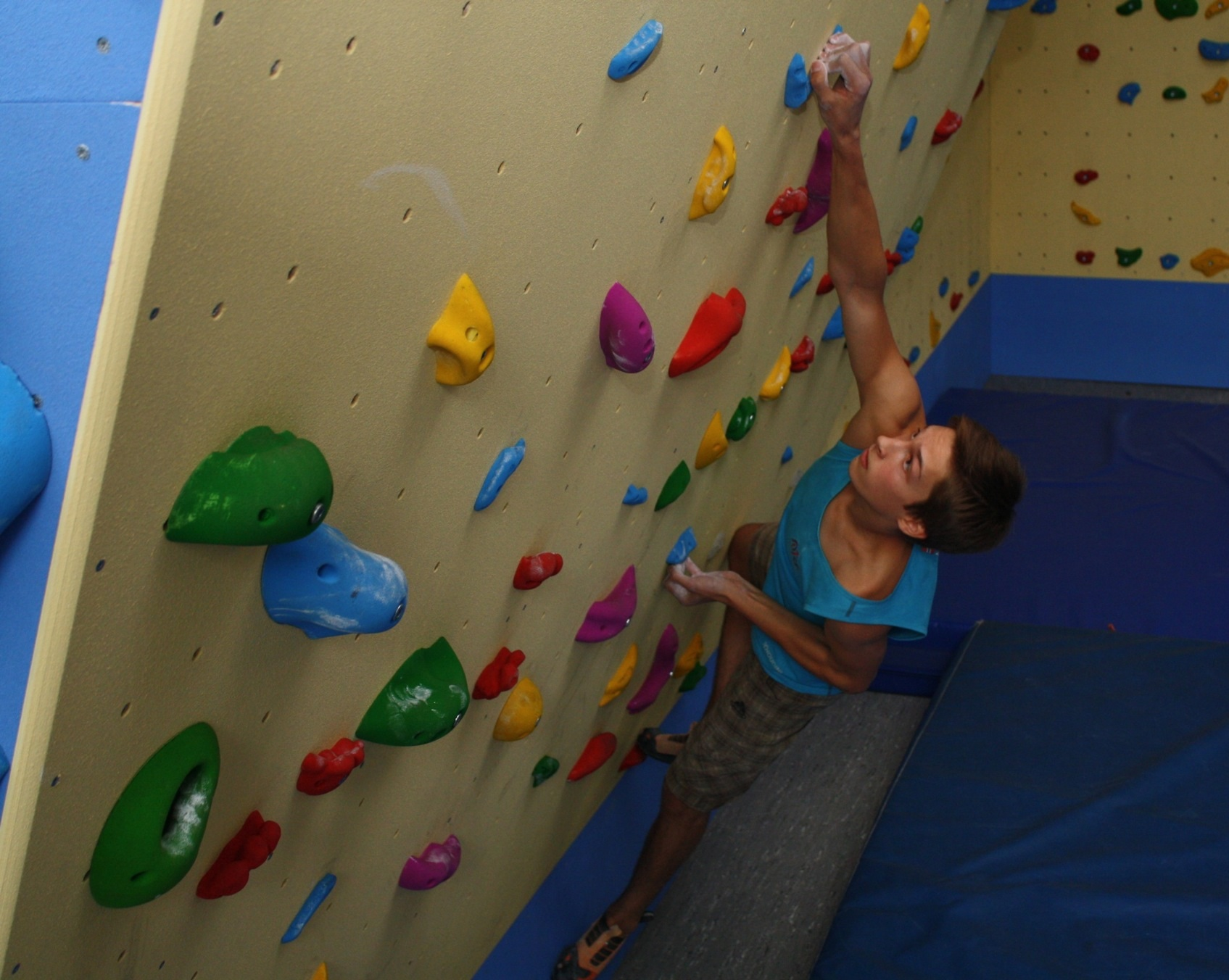On the new climbing wall - Pic by Marita Bünger