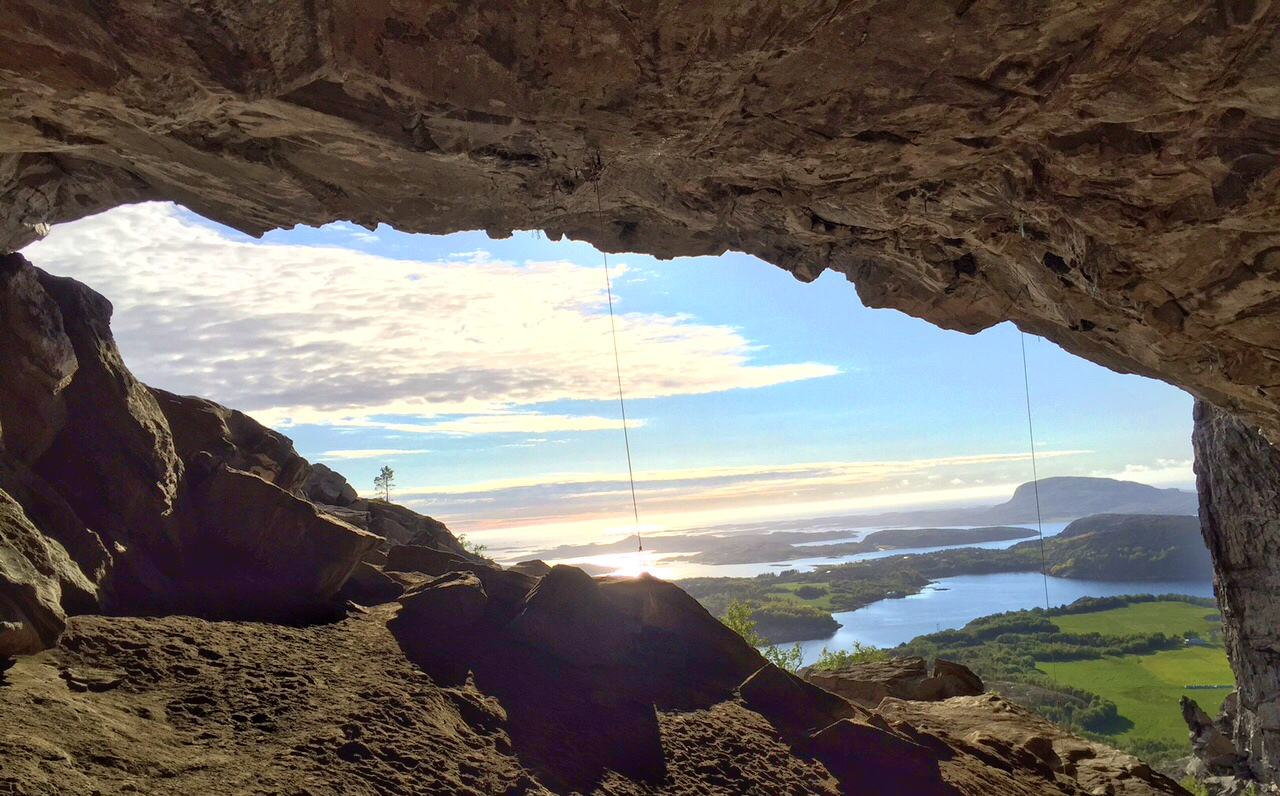 view out of the cave