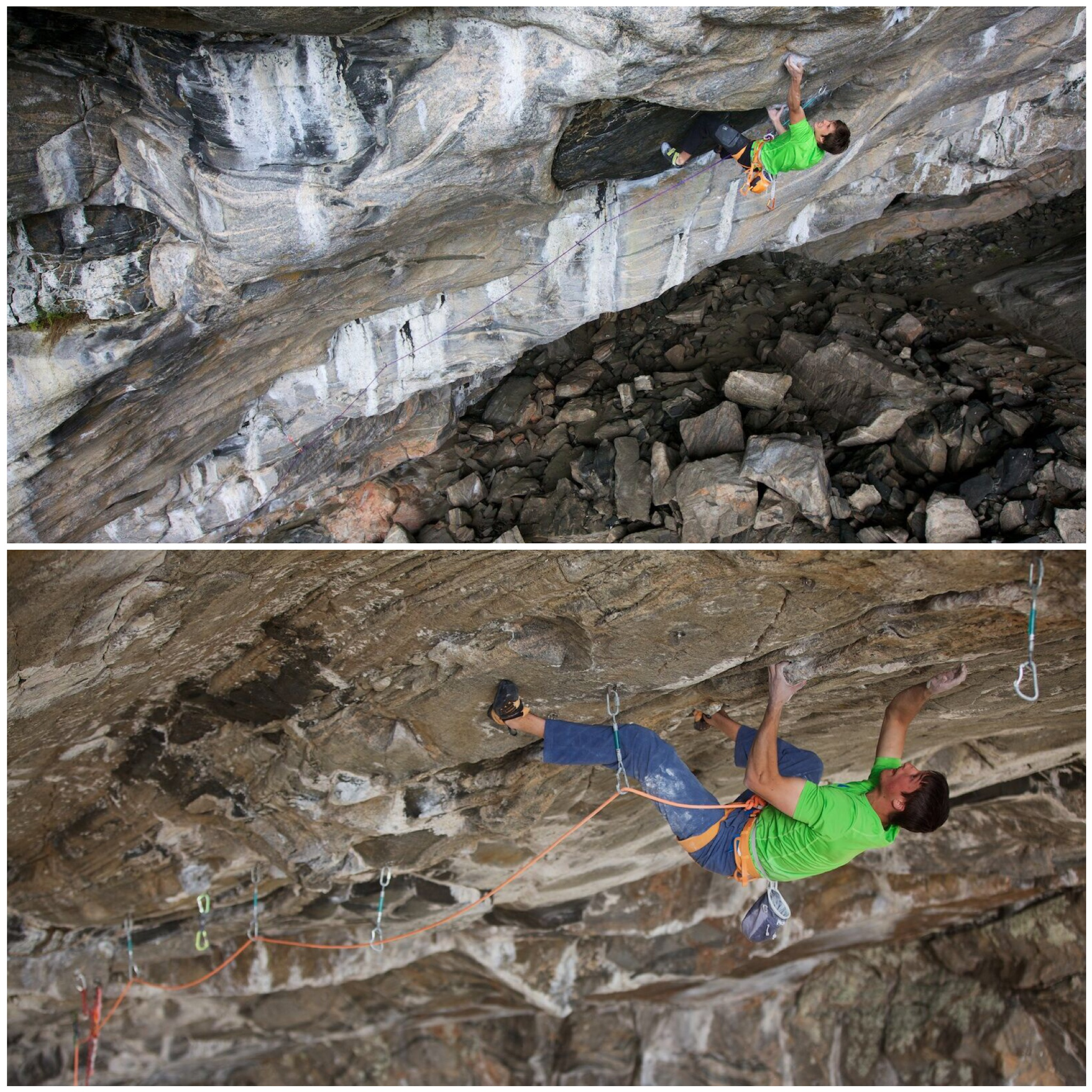 "Ruben in Odin´s Eye (8c+), David in ""The Valkyrie"" (8c)"