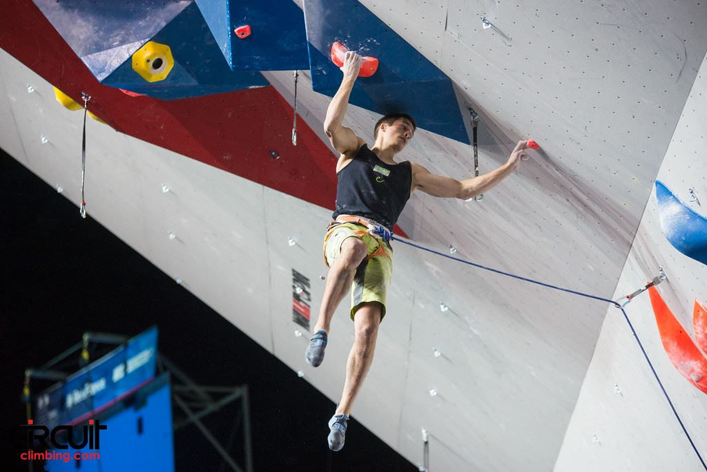 David in the lead semi-final route of the World Championships in Paris this year (c) Eddie Fowke