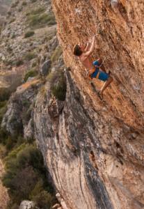 "Ruben in ""Selecció Natural"" (9a) in the cave of Santa Linya in Catalonia/Spain (c) Henning Wang/Madskillzmedia"